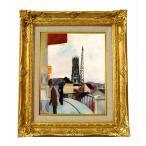 世界の名画  マッケ スイスのフリブールの大聖堂 ジクレーキャンバス複製画 豪華額装品