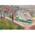 ムンク Landscape, Kragero ジークレーポスターA1(594ミリ×841ミリ)四辺フチ無し