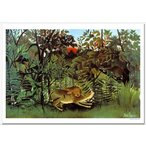 ルソー 飢えたライオン ジクレーアートポスター B4 (364ミリ×257ミリ)
