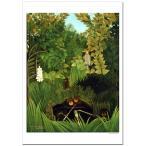ルソー  陽気な道化たち ジクレーアートポスター A2 ( 594ミリ×420ミリ)