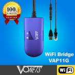 SUCCUL Wifi bridge ブリッジ 無線からLANケーブルに変換 無線 有線 変換 無線対応できない機器にぴったり