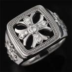 指輪 メンズ メンズ リング K18 ホワイトゴールド ダイヤモンド