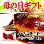 母の日 プレゼント イベリコ豚100%ハンバーグ4個 グルメ お肉 高級 お取り寄せ ギフト