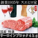 牛肉 黒毛和牛 霜降りサーロインブロック 4kg お肉 お歳暮 ギフト ブランド肉 お取り寄せ グルメ 牛肉塊 お正月
