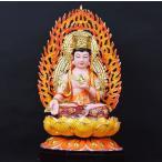 虚空蔵菩薩 仏像 フィギュア 虚空蔵菩薩像 座像 置物 仏教美術 金属 樹脂