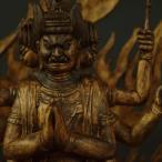 木彫り 仏像 馬頭観音 フィギュア 馬頭観音像 立像 置物 仏教美術