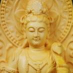 木彫り 仏像 普賢菩薩 フィギュア 普賢菩薩像 座像 仏教美術  置物