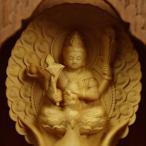木彫り 仏像 孔雀明王 フィギュア 摩利支天像 置物 仏教美術