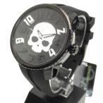 Tendence テンデンス 腕時計 ラウンドガリバー スカル ハイドロゲン ブラックホワイト×ホワイト 05023012