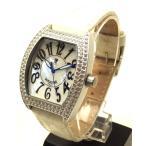 【長期在庫】LANCASTER ランカスター メンズ 時計 ラインストーン ホワイト シェル文字盤 男女兼用 アルミニウム 0248 紳士用