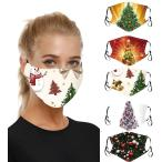 【 MASZONE 】クリスマスマスク 洗える 5枚入 布マスク 涼しめ 洗えるマスク 冷感 超快適マスク スポーツ マスク 繰り返し ひんやり感 衛