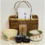 【茶器・茶道具】  手提篭 野点茶道具セット