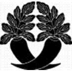 高田卸方屋で買える「家紋 鯉のぼり 名前旗 五月人形 ひな人形用 家紋番号0027 大根(だいこん 違い大根 ちがいだいこん 139822027」の画像です。価格は1円になります。