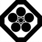 高田卸方屋で買える「家紋 鯉のぼり 名前旗 五月人形 ひな人形用 家紋番号0714 角(かく 隅切り角に梅鉢 すみきりかくにうめばち 139822714」の画像です。価格は1円になります。