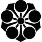 高田卸方屋で買える「家紋 鯉のぼり 名前旗 五月人形 ひな人形用 家紋番号0784 剣(けん 剣梅鉢 けんうめばち 139822784」の画像です。価格は1円になります。