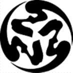 家紋 鯉のぼり 名前旗 五月人形 ひな人形用 家紋番号1008 文字(もじ) 三つ弓の字の丸 みつゆみのじのまる 139839008