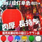 [提灯][ちょうちん][ポリ提灯][丸提灯][赤提灯]ポリエチレン 単色 赤 丸 無地 8寸 針金 持ち手つき 24cm × 21cm 500011