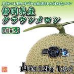 静岡県産 クラウンメロン 山等級 1玉 化粧箱入り 【1玉1.2kg以上】 マスクメロン
