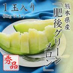 (6月上旬頃より発送) 送料無料 メロン フルーツ ギフト 熊本県産 肥後グリーンメロン 秀品 1玉入り 2kg以上