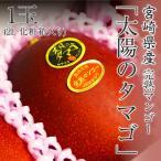 プレゼント ギフト 宮崎県産 太陽のタマゴ 完熟マンゴー 2L 1玉入り 化粧箱入り 送料無料