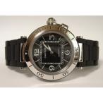 Cartier カルティエ Pasha   パシャ シータイマー ブラック  ラバーコーティングブレスレット W31077U2