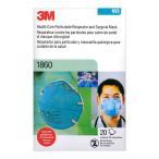 3M N95 1860 微粒子用マスク 20枚 レギュラーサイズ 3Mマスク 立体 カップ型 ブルー 並行輸入品