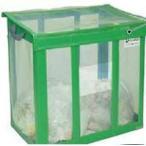 大きめのゴミ箱 屋外 テラモト DS-261-001-1 自立ゴミ枠 折りたたみ式 430L カラスよけ 網 屋外用ダストボックス 業務用ゴミ箱 大型 外置き カラス除け 猫除けに
