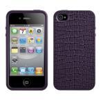 スマホケース カバー iPhone4 4s SwitchEasy パープル 紫 ジャケット ポリカーボネート Dockコネクタプロテクタ(2個) 帯電防止加工スクリーン保護フィルム 等