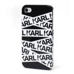 スマホケース カバー iPhone 4s 4 CG Mobile Karl Lagerfeld Ribbon Collection ブラック 黒 ジャケット ポリカーボネート Hard Black