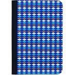 タブレットケース カバー iPad mini OZAKI ブルー 青 手帳型 フリップ ダイヤモンド O coat Pattern