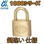 アルファ ALPHA 南京錠 1000-20mm  鍵違い