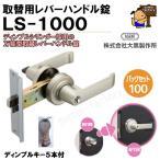 AGENT 取替用レバーハンドル錠 LS-1000 (錠ケース付)ディンプルシリンダー
