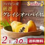 木瓜 - フィリピン産パパイヤ 2玉 約1キロ 送料無料 なめらかな口当たりが人気トロピカルフルーツの代表格