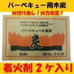 バーベキューに最適 5〜6人用 国産木炭&オガ備長炭セット 着火剤入 焼肉 焼き鳥 オガ炭