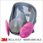 防塵マスク 3M 6000F/2091-RL3 取替え式防じんマスク 全面体