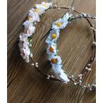 Yahoo!sunshinemall花冠新入荷、手作り、はなかんむり、カチューシャ、クラシック、森ガール、ボヘミア、暖かい春の思い出、ガーデンウエディングsp546