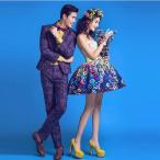 Yahoo!sunshinemallカップル撮影用服、写真服、写真館、男性と女性セット、ドレス、花嫁ミニドレス、カラードレス、可愛い、春の思い出、ドレスxz-59