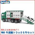 ブルーダー MAN 牛運搬トラック&牛セット 02749