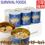 保存食 25年保存 サバイバルフーズ チキンシチュー 大缶 ファミリーセット 6缶セット