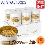 保存食 25年保存 サバイバルフーズ 野菜シチュー 大缶 6缶セット