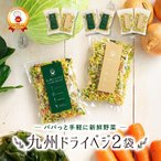 乾燥野菜 国産 九州 ドライベジ 2袋 ラーメン 味噌汁 等に入れるだけ 野菜不足 に 4種の野菜 ゆうパケットのため代引不可(出荷目安:1〜2週間)