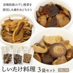しいたけ 料理 3種セット 宮崎産 原木椎茸 手作り 無添加 九州 お取り寄せ グルメ おつまみ ポイント消化 ゆうパケット