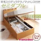フランスベッド ベッド ベット セミダブルベッド セミダブルベット 収納ベッド ガス圧式跳ね上げ収納ベッド レギュラー フランスベッド