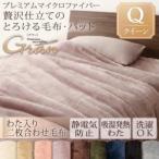 プレミアムマイクロファイバー贅沢仕立てのとろける毛布・パッド【gran】グラン 発熱わた入り2枚合わせ毛布単品 クイーン