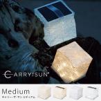 CARRY THE SUN キャリーザサン ミディアム ソーラーパフ LED ランタン 非常用ライト 防災グッズ 折り畳み 軽量 防水