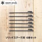 snow peak スノーピーク ソリッドステーク30 6本セット R-103-1