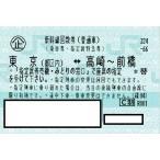 新幹線 東京ー高崎〜前橋 指定席回数券チケット 1枚(片道)