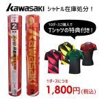 【超特価】Kawasaki TEAM2(2番) 10ダース購入でウェアプレゼント♪ 第一種検定相当球 チーム2 バドミントンシャトル カワサキ【即日出荷】