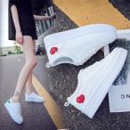 厚底 スニーカー レディース  ローカット フラットシューズ  防水  ぺたんこ  疲れにくい カジュアル 白 軽量 韓国 おしゃれ 靴 美脚