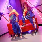Yahoo!サンフラワーハウスキッズ ダンス衣装 ヒップホップ セットアップ HIPHOP 男の子 女の子 男女兼用 ジャズダンス トップス ジャケット  ダンスパンツ 練習着  体操服